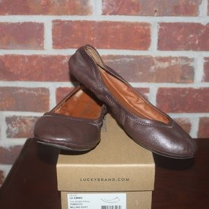 Lucky Brand Womens Emmie dark brown leather  8.5M